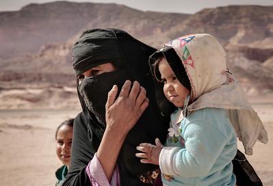 Bedouin Woman and Child - Sinai