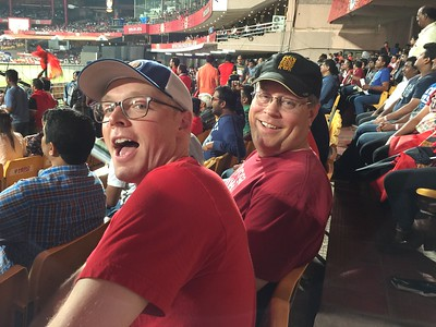 Roger and Todd at the game
