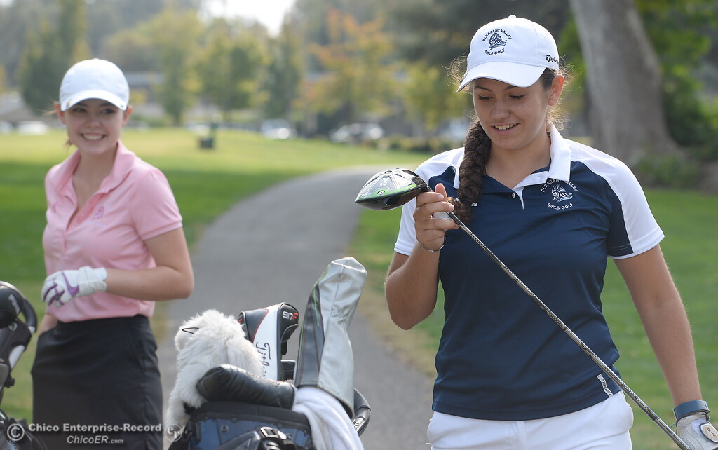 . during the Eastern Athletic- Sacramento River League girls golf championships at Butte Creek Country Club in Chico, Calif. Monday Oct. 16, 2017. (Bill Husa -- Enterprise-Record)