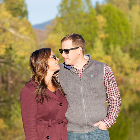 Engagement photo in fall