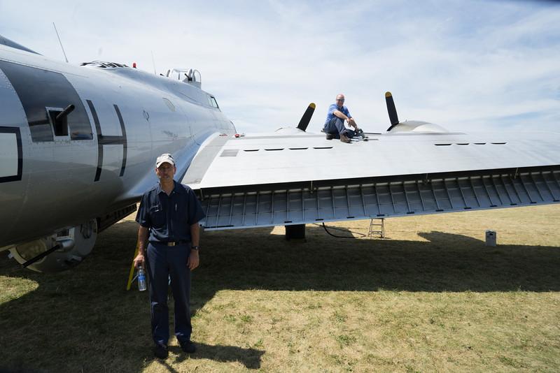 GERARD AND TOM CREW SERVICING AIRCRAFT