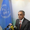 Ambassador Syed Akbaruddin speaking to the media at PMI,Dinesh Patnaik Joint secretary on 23rd  18<br /> photos Mohammed Jaffer-SnapsIndia
