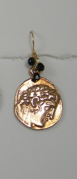 """8-GM8-OX CO40  BRONZE """"CAESAR"""" MEDAL WITH ONYX"""