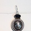 8-OX-CRST C032 SILVER CREST BUTTON WITH ONYX