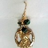 8-RM224-GRN-CO32  SACRED HEART MEDAL WITH GREEN PEARLS
