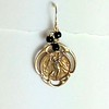 8-RM133-OXCO36  ST CHRISTOPHER MEDAL WITH ONYX