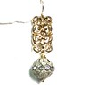 8414B-RS CO39  BRONZE FILIGREE WITH BIG RHINESTONE