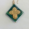 8-RM86-CC CO 39  SMALL 4 WAY CROSS ON CHRYSACOLLA