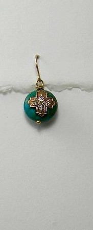 8-RM83-MP CO36  TINY CROSS ON MAGNESITE WITH PYRITE DISK