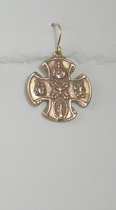 8-RM104-W CO34  BRONZE 4 WAY CROSS EAR ON WIRE