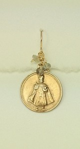 8-RM219-LAB CO35 INFANT JESUS OF PRAGUE WITH LABRADORITE--CAN BE ANY COLOR STONE--