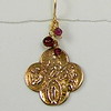 8-RM109-G CO38  BRONZE CROSS WITH GARNETS