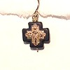 8-RM83-OX CO36 TINY CROSS ON BLACK STONE