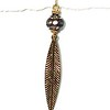 """8940-RS CO54 RHINESTONE AND FEATHER EARRING  2 3/8"""" DROP"""