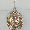 8-RM125-W CO28  BRONZE SACRED HEART MEDAL EARRING