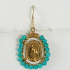 8-TQ-RM110 CO58  MIRACULOUS MEDAL WRAPPED IN TURQUOISE