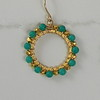 8-GC-WTQS CO60  VERMEIL CIRCLE WRAPPED IN TURQUOISE