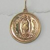 8-RM89-W CO32  VIRGIN OF THE GUADALUPE BRONZE EARRING