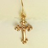 8548B-W CO23  CROSS EARRING
