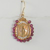 8-G-RM110 CO58  MIRACULOUS MEDAL WRAPPED IN GARNETS