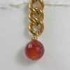 8-BVC-CRN CO34  FACETED CARNELIAN ON BIG VINTAGE CHAIN
