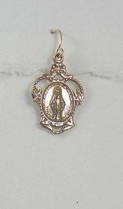 8-RM138-W CO29  BRONZE MIRACULOUS MEDAL EARRING.  THIS IS MY FAVORITE EAR IN CASE YOU HADN'T NOTICED.  LOOKS GREAT WITH ANYTHING.