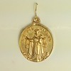 """8-102-W CO38  OUR LADY OF MT CARMEL MEDAL  1 3/8 X 1"""""""