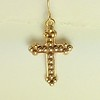 8-RM250-W CO28  STUDDED CROSS EARRING