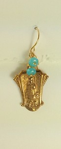 "8-RM208-BA CO35  INFANT JESUS OF PRAGUE WITH BLUE AGATE  ABOUT 1"" X 5/8"""