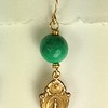 8-RM228-CRL CO36 MIRACULOUS MEDAL WITH GREEN OPAL