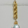 8-VC-WC CO36  VINTAGE CHAIN WITH WHITE COIN PEARL