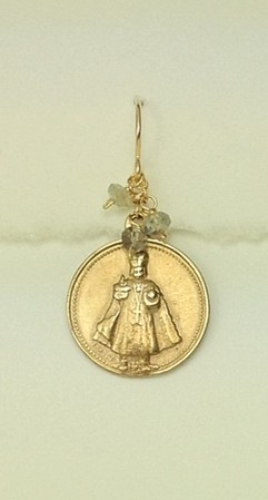 8-RM219-LAB CO35 INFANT JESUS OF PRAGUE WITH LABRADORITE--CAN BE ANY COLOR STONE--CITRINE WOULD BE NICE WITH PREVIOUS NECKLACE
