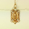 8-RM230-WP CO38 MY FAVORITE EAR--MIRACULOUS MEDAL WITH WHITE PEARLS