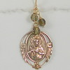 8=RM125-ST CO38  BRONZE SACRED HEART MEDAL WITH SMOKY QUARTZ or your choice