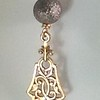 8-GS-RM801-CO38  GUN METAL BALL WITH FILIGREE BRONZE PIECE