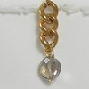 8-BVC-ST CO34  SMOKY QUARTZ ON BIG VINTAGE CHAIN