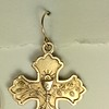 8-RM245-W CO34 COMMUNION MEDAL EARRING