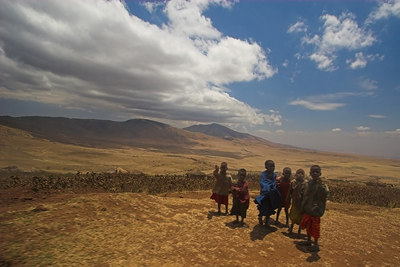 Ngorongoro Crater Ngorongoro Highlands - Masai Children