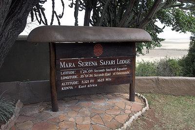 Masai Mara NR Serena Sign