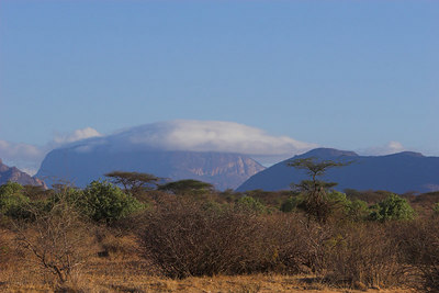 Samburu NP Clouds over the Sacred Mountain