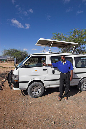 Samburu NP Peter and our Van