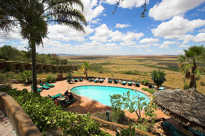 Masai Mara NR Serena Pool overlooking the 'Paradise Plains'