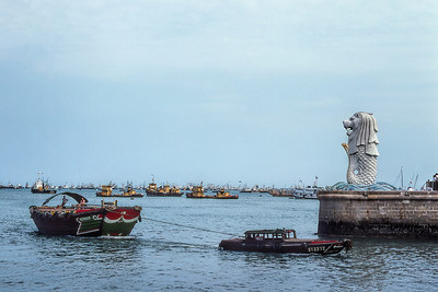 SINGAPORE HARBOR - 1976