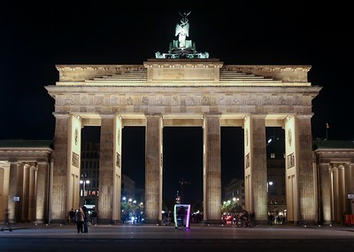 Although now in the city's center, when the Brandenburg Gate was constructed in 1791 it was at the far western edge of town.