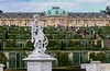 Extensive grounds of the Sanssouci Palace in Potsdam, Germany