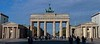 A morning photo of the Brandenburg Gate, classic symbol of Berlin.