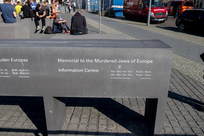 The Memorial to the Murdered Jews in Europe is as close as possible to the Chancellery Bldg site where the Nazis plans to eradicate the Jews were administered. Hitler's  bunker was only a few yards away from here, filled in with concrete and now under a parking lot.