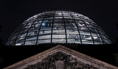 Reichstag Dome, accessible by reservation only.