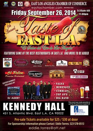 6TH ANNUAL TASTE OF EAST L.A. @ KENNEDY HALL • 09.26.14