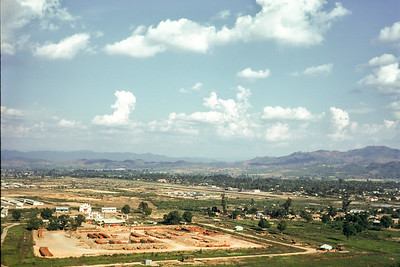 View southeast over Kontum airport